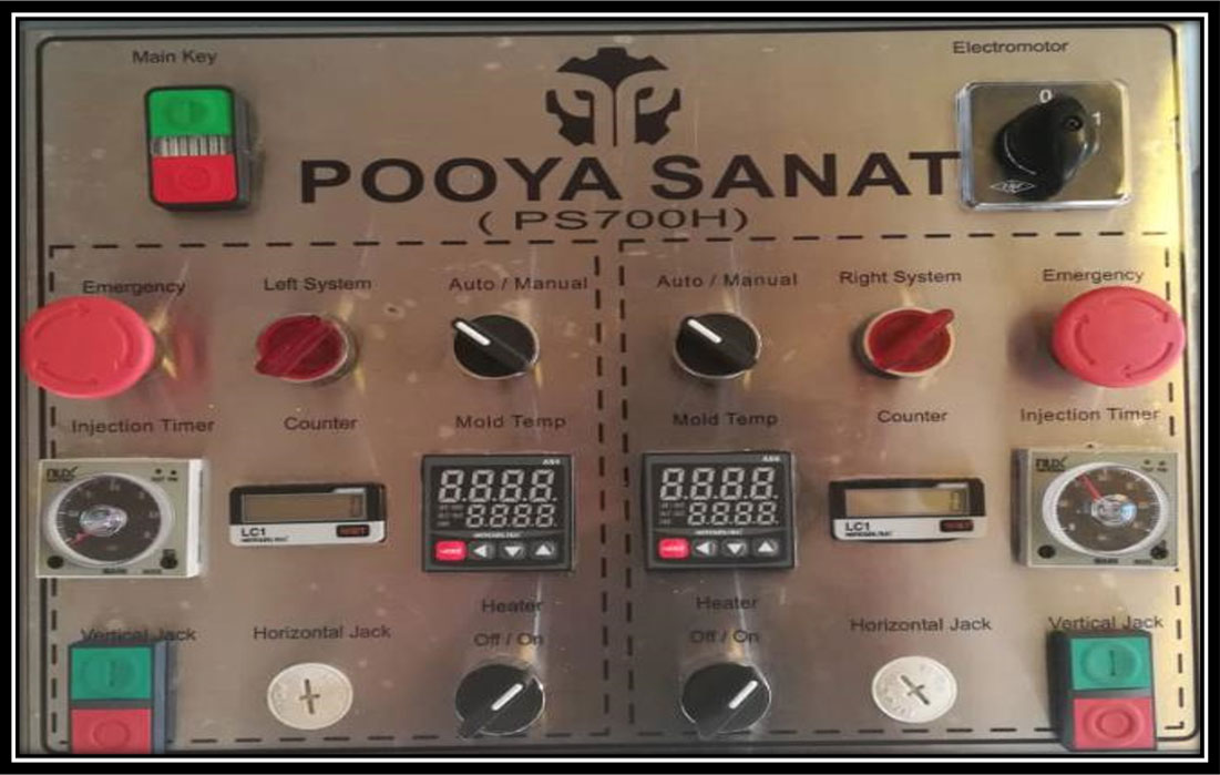 PS700Hتابلو برق دستگاه کباب گیر اتوماتیک مدل